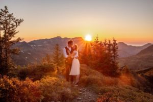 Sunset Mountain Engagement in Austria