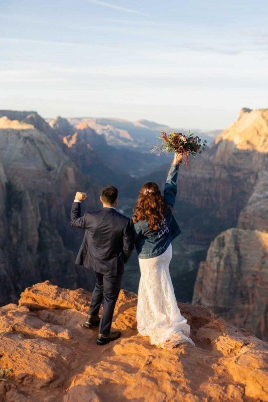 Destination-elopement-in-Zion-National-Park-sunrise-love-Adventure-Elopement-Observation-point-bride-groom-wedding-utah-kyle-loves-tori