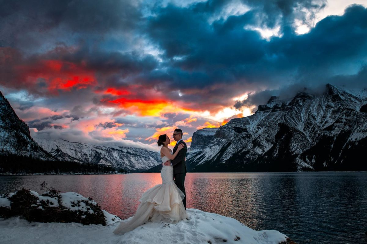 Winter Wedding Session in Banff National Park
