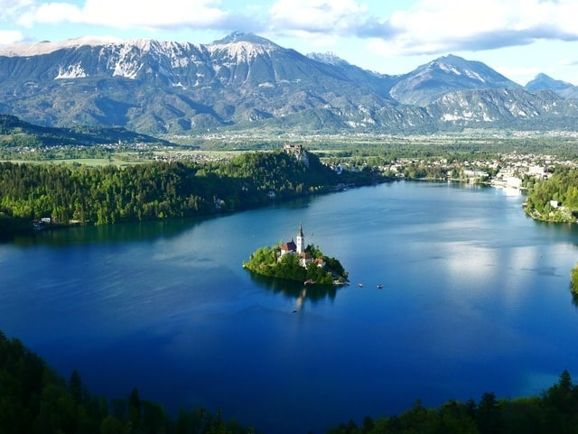 top 10 places to elope in europe lake bled slovenia elopement destination wedding small island