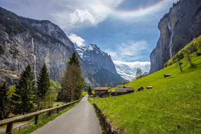 Top 10 Places To Elope in Europe switzerland waterfall mountain alps elopement destination wedding intimate small love
