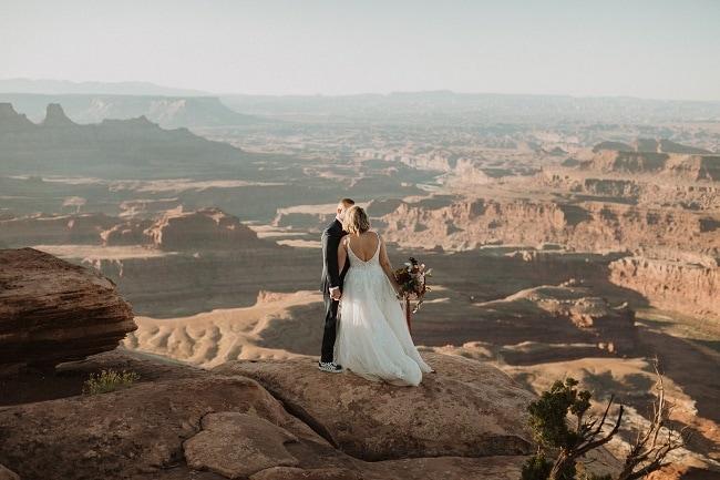 Moab Utah Elopement | Intimate Sunset Wedding | Red Rock | More Van Anything